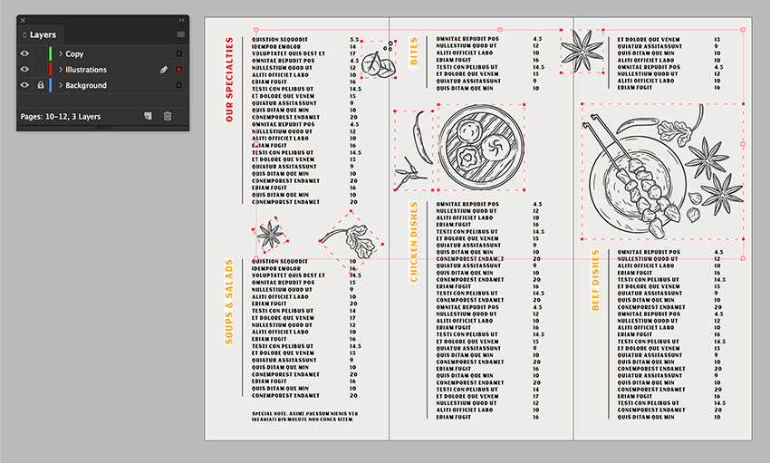 open the illustration on Illustrator and copy and paste items onto InDesign