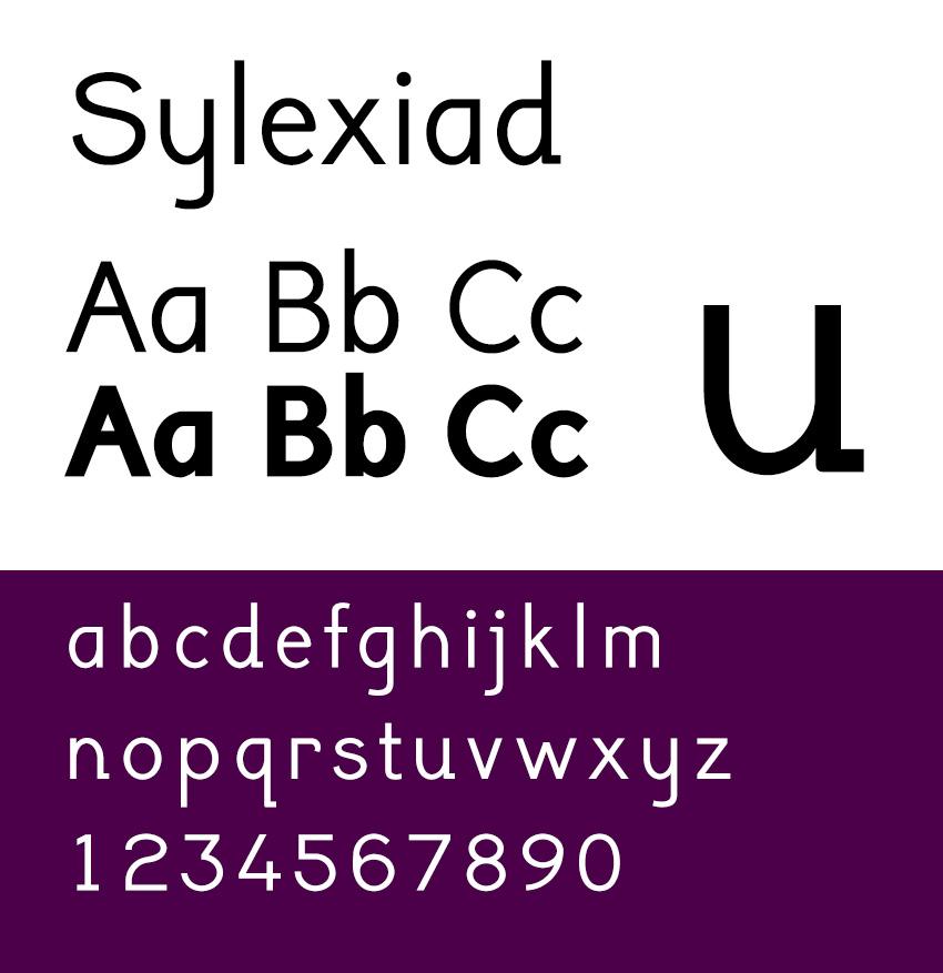 sylexiad is a dyslexia font