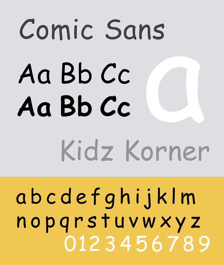 comic sans is amongst the best font for dyslexia