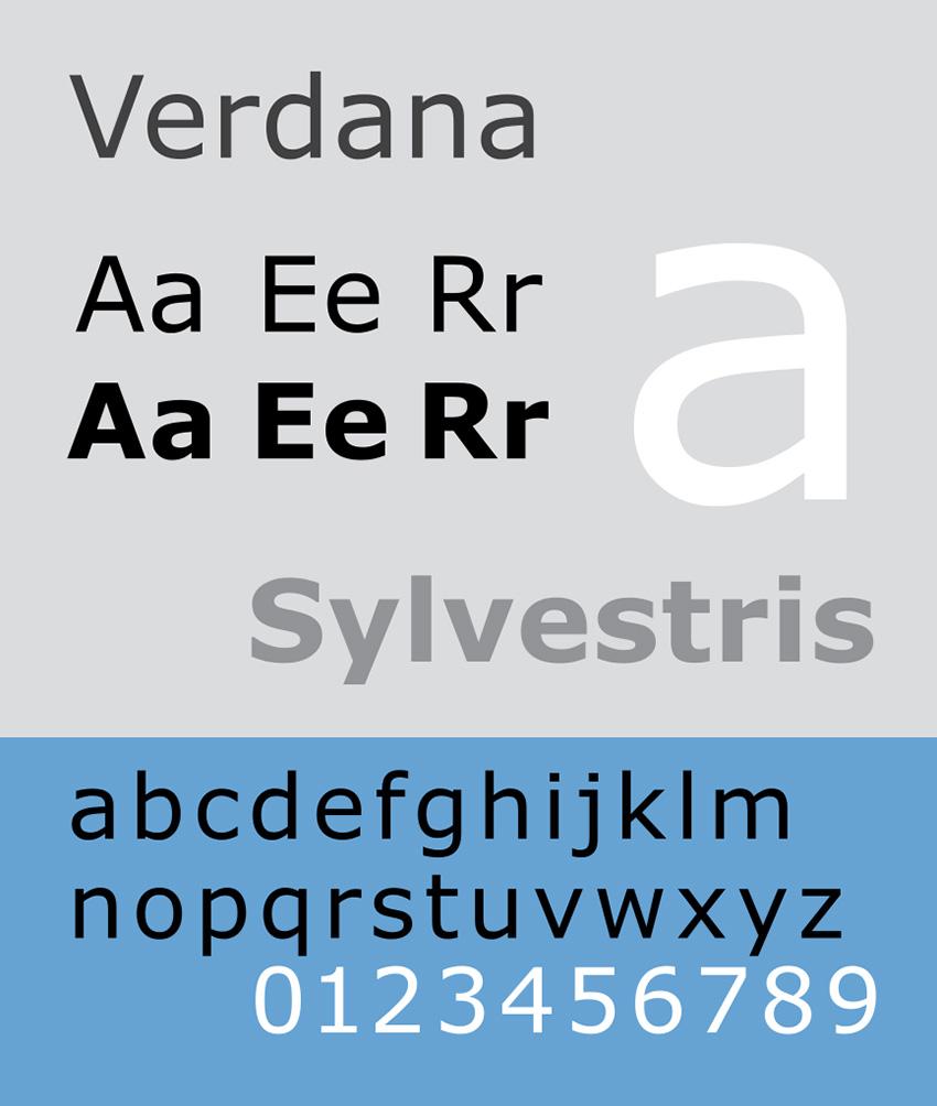verdana is a dyslexia friendly font