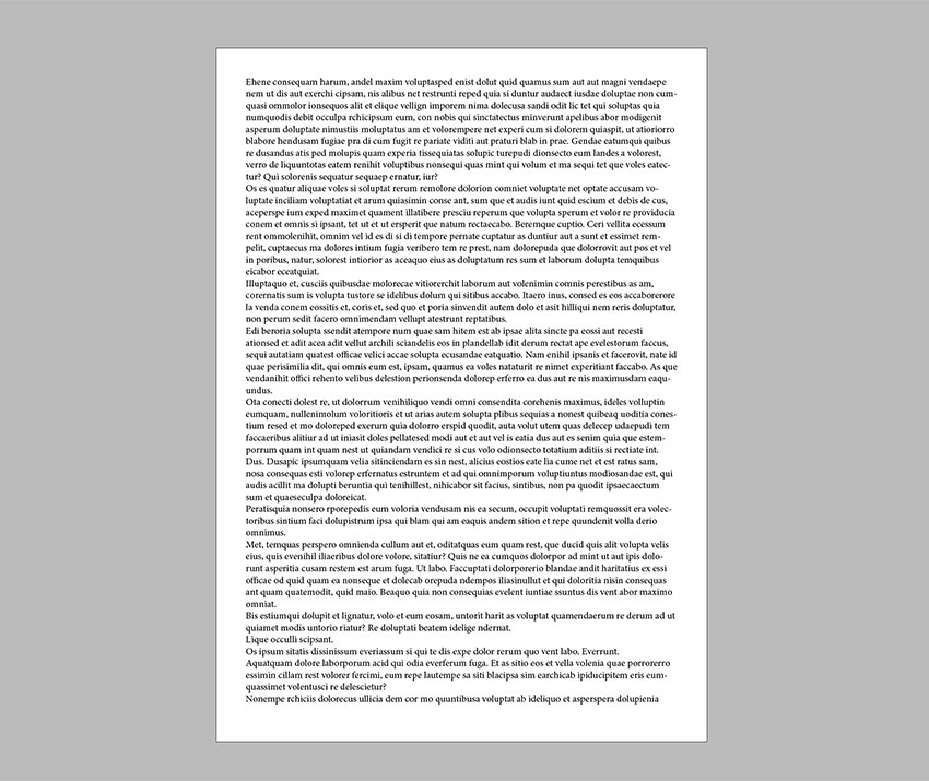 Create a new document and add a text frame