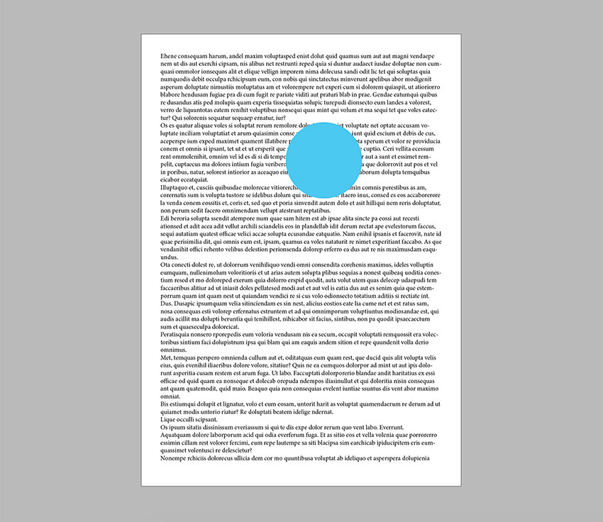 Create a circle on the page