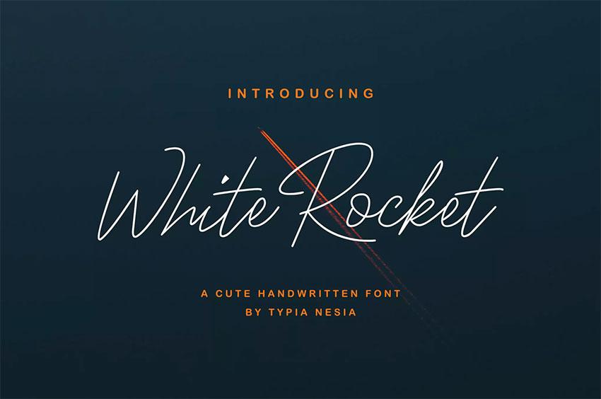 White Rocket Display Typeface