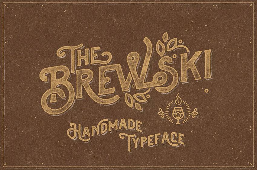 The Brewski Display Typeface