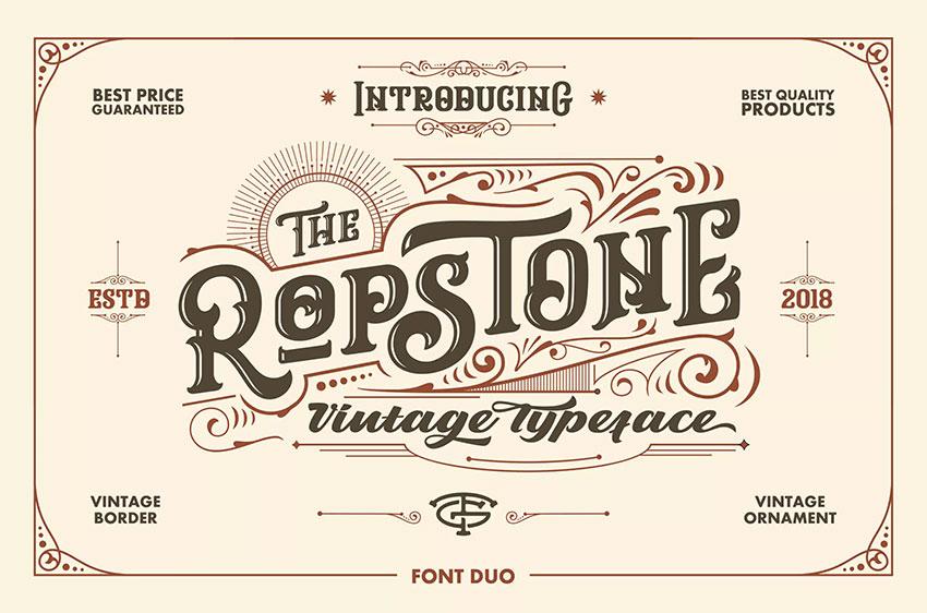 Ropstone Display Typeface