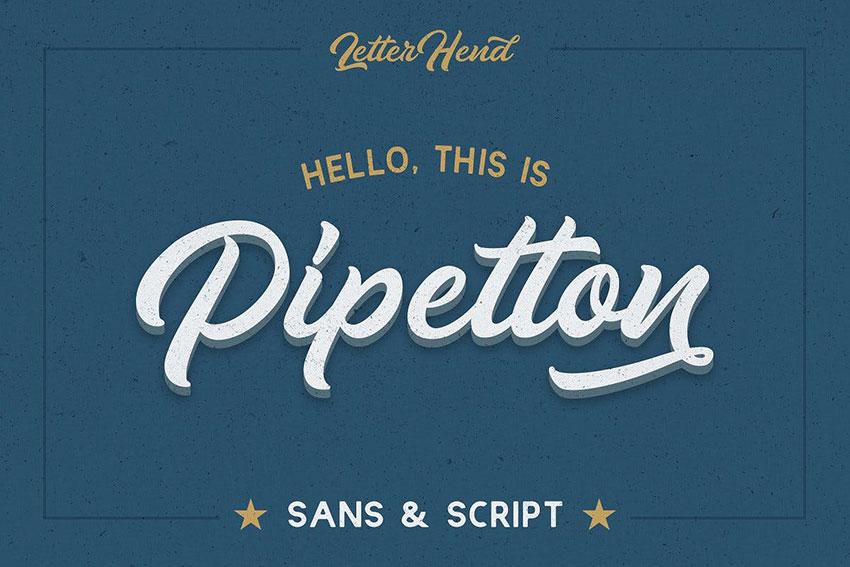 Pipetton Font Duo