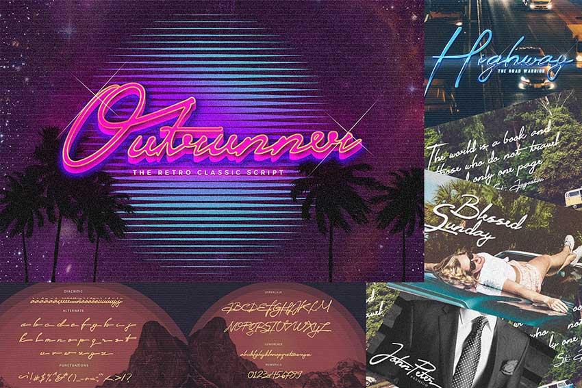 Outrunner 80s Retro Script