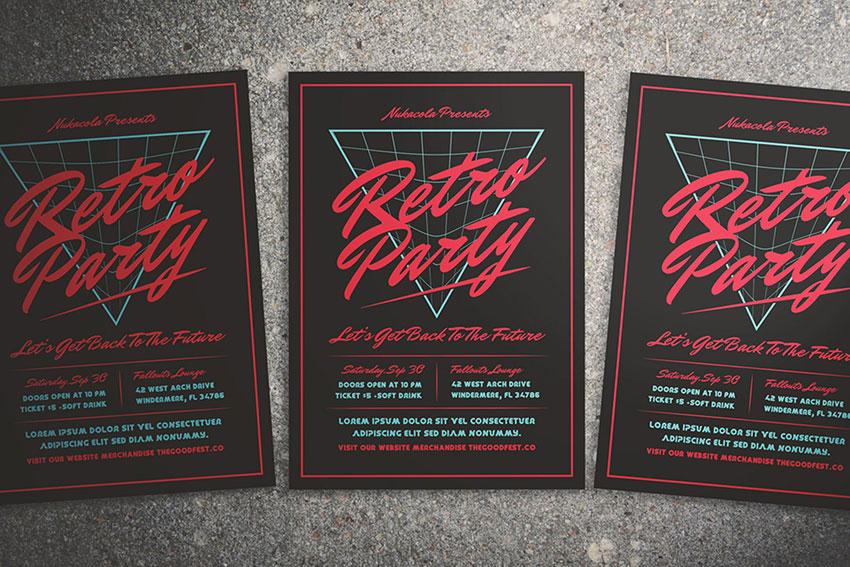 80s Music Flyer