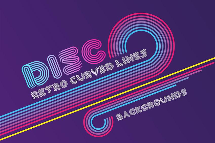 Disco Retro Lines disco font