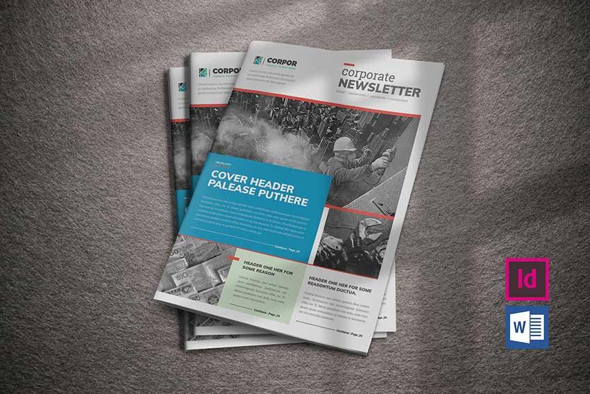 20 Best Free Editable Microsoft Word Newsletter Print Templates for 2020