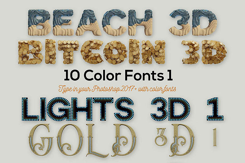 10 Color SVG Fonts Library