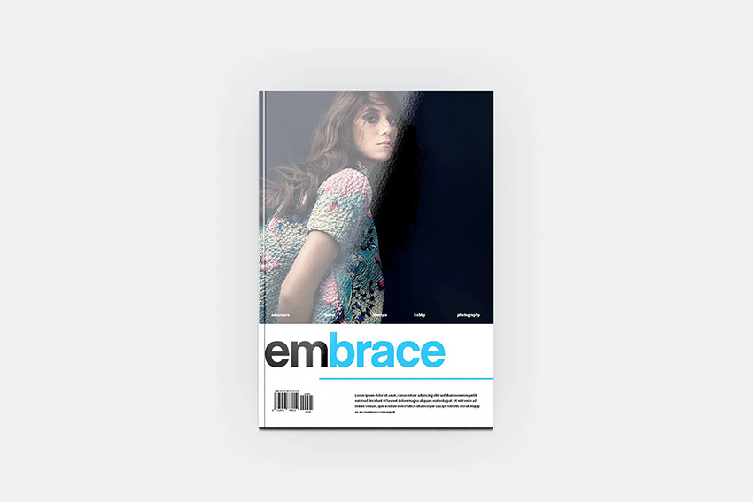 HQ Letter Embraced InDesign Magazine Template
