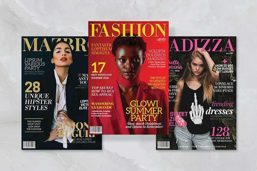 3 Magazine Cover Templates