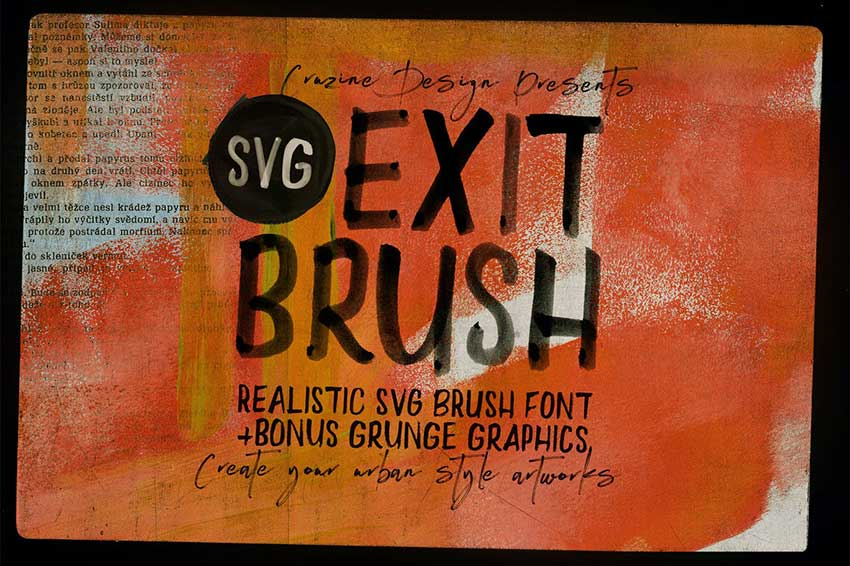 Exit Brush  SVG Font