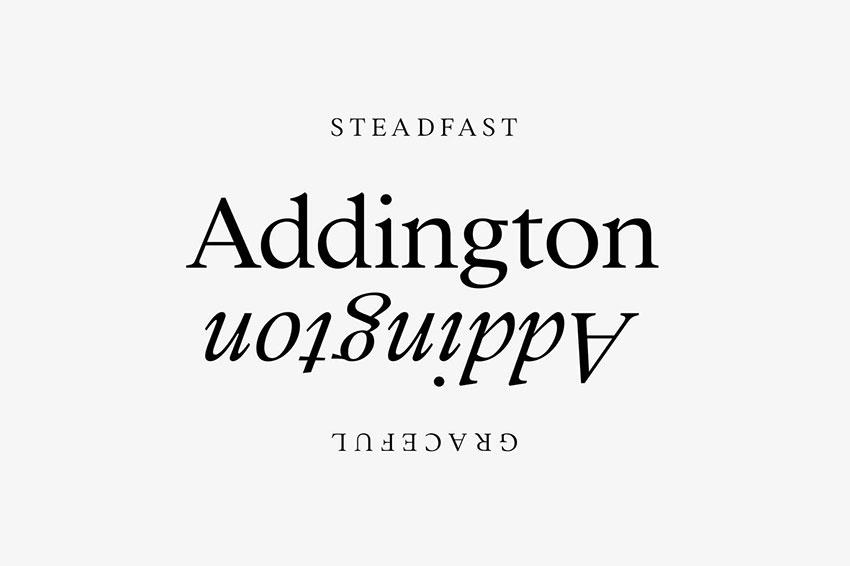 Futura font pairing Addington