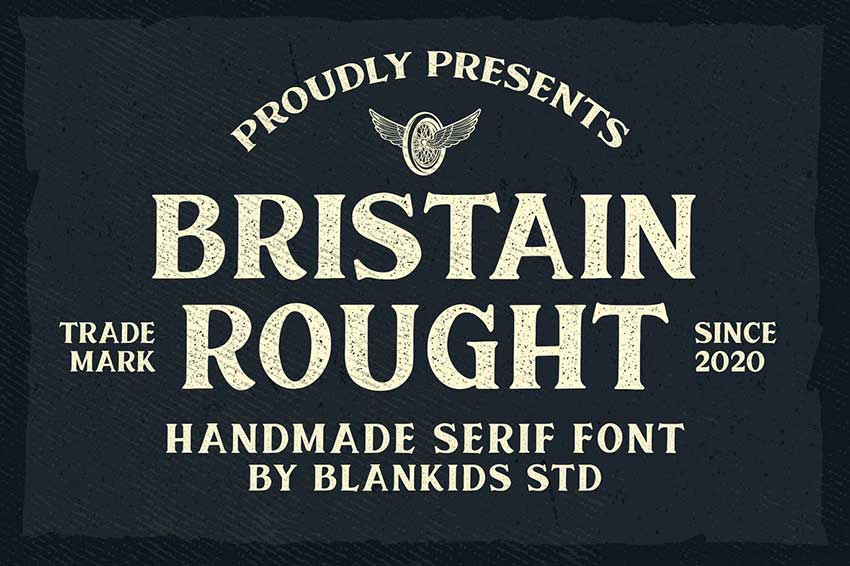 Futura font pairings Bristain rough serif font