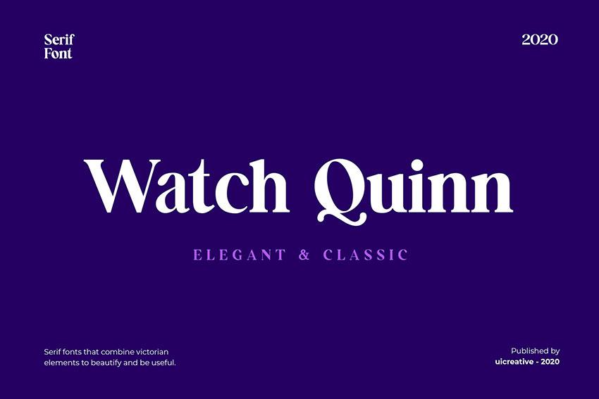 Futura font pairing Watch Quinn