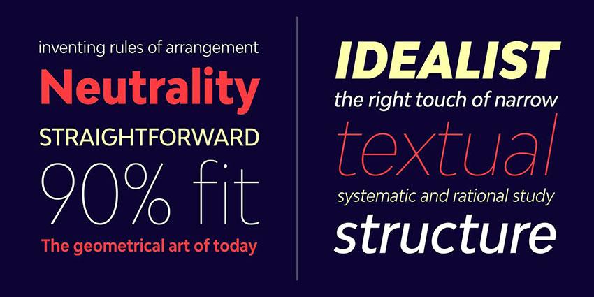 Fonts like Futura Bw Modelica Condensed