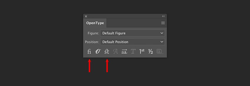 create a new document and deactivate the automatic ligatures