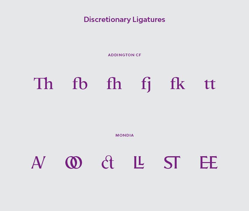 Discretionary ligatures