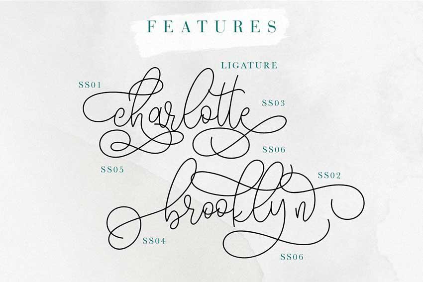 Font ligatures Hariette