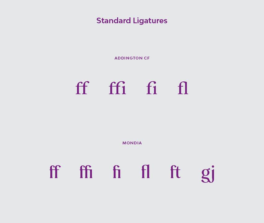 Standard Ligatures
