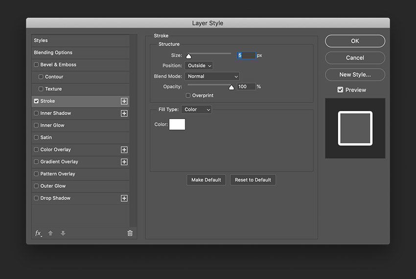 Add a stroke to the initial using the Layer Style option