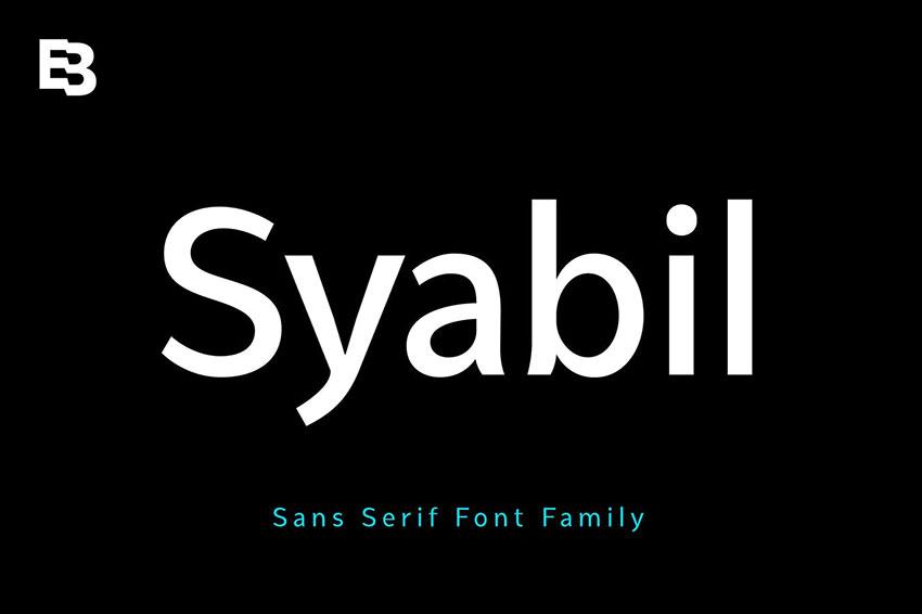 Syabil, fonts like arial