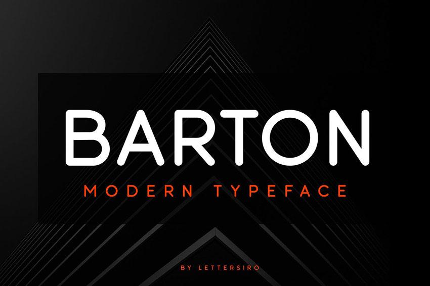 Barton, fonts like Arial