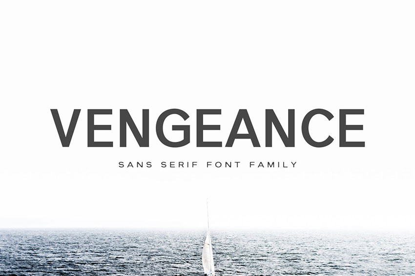 Vengeance, fonts like Arial