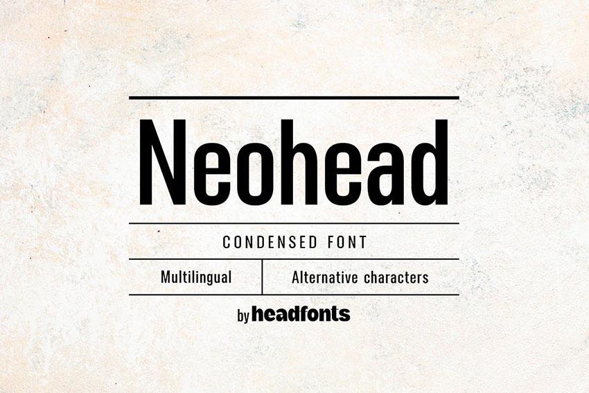 Neohead, fonts like Arial