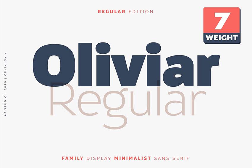 Oliviar, fonts like Arial