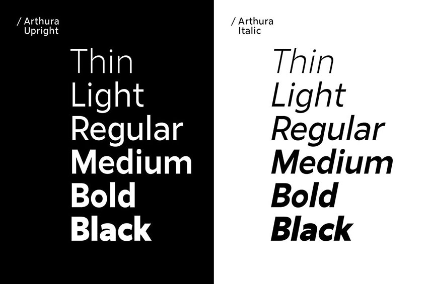 Arthura, fonts like Arial