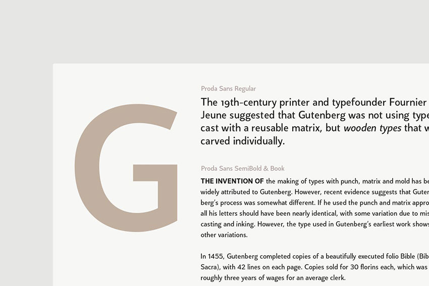 Proda Sans, fonts like Arial