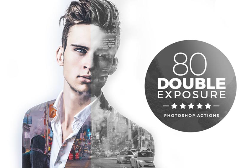 Double Exposure Actions for Adobe Photoshop