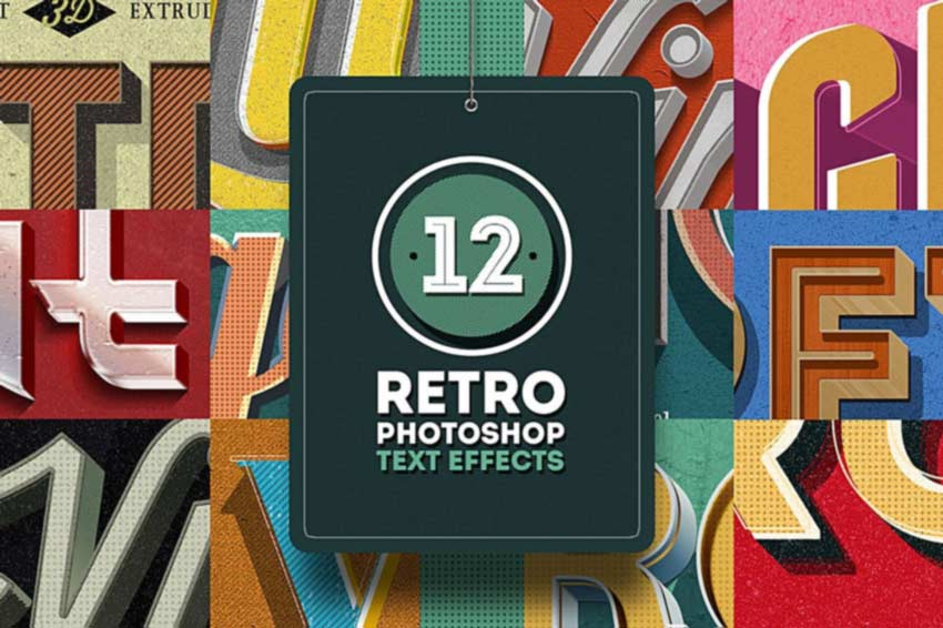 12 Retro Photoshop Text Effects