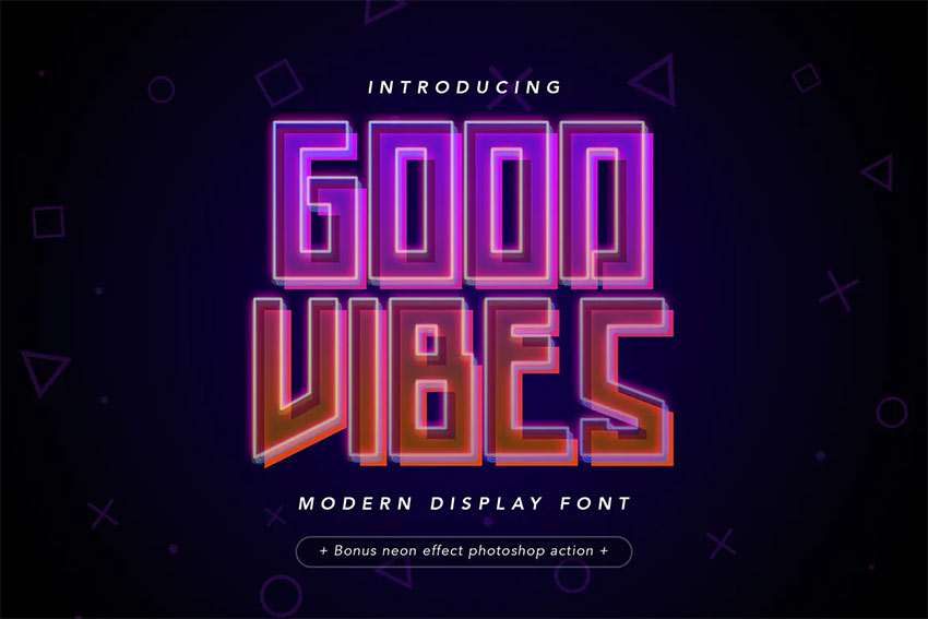 Good Vibes - Modern Neon Display Font