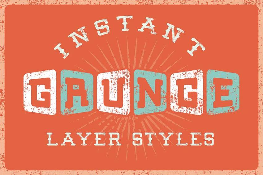 Grunge Layer Styles