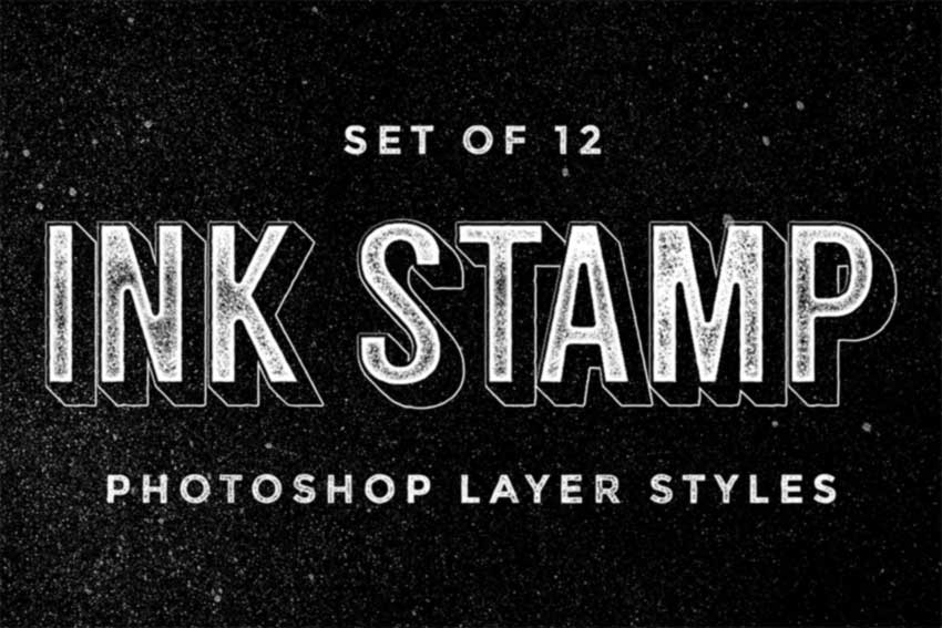 Ink Stamp Photoshop Layer Styles