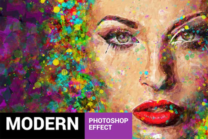 Acrylum - Modern Art Photoshop Action