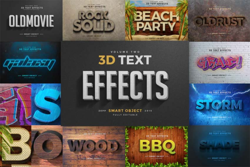 3D Text Effects Vol2