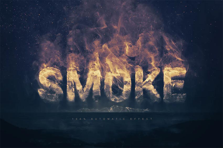 Smoke Logo Text Effect