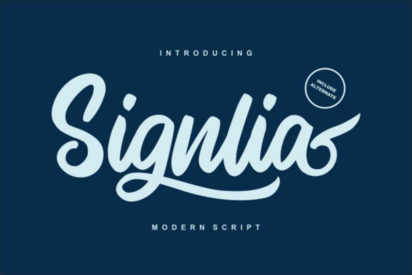 Signlia Modern Script Font