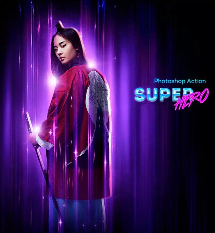 SuperHero Photoshop Action