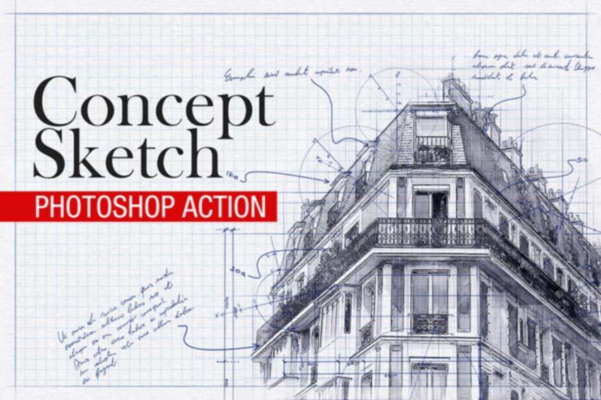 Concept Sketch Photoshop Action