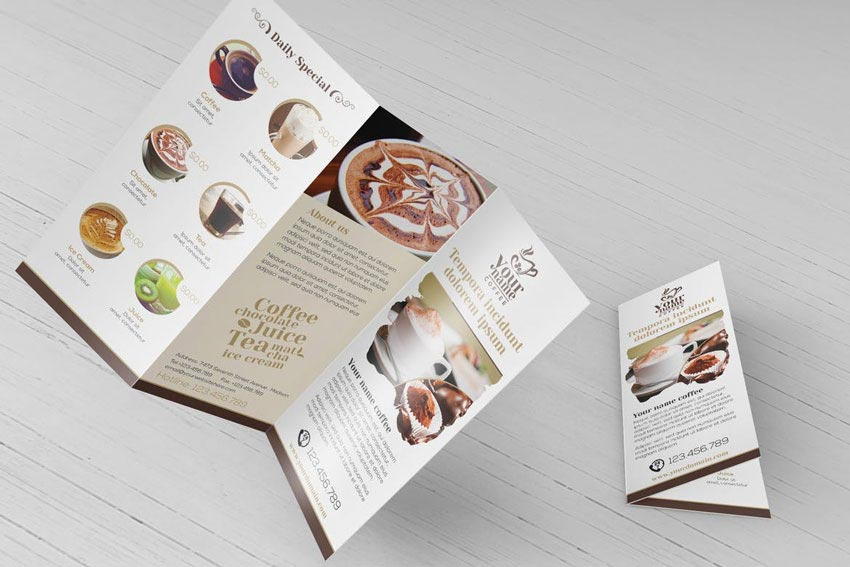 Coffee Shop Trifold Brochure