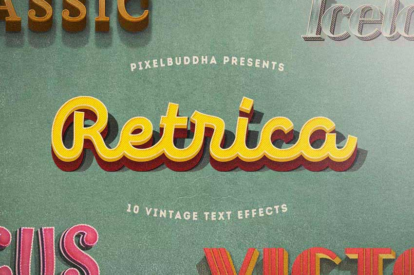 Retrica Vintage Text Effects Pack