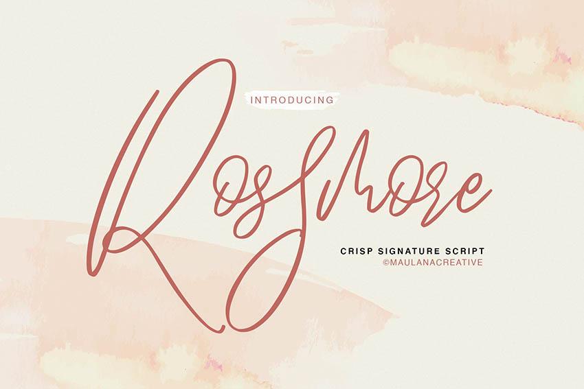 Rossmore Script Font
