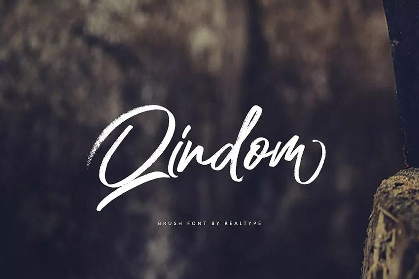 Qindom Brush Fonts
