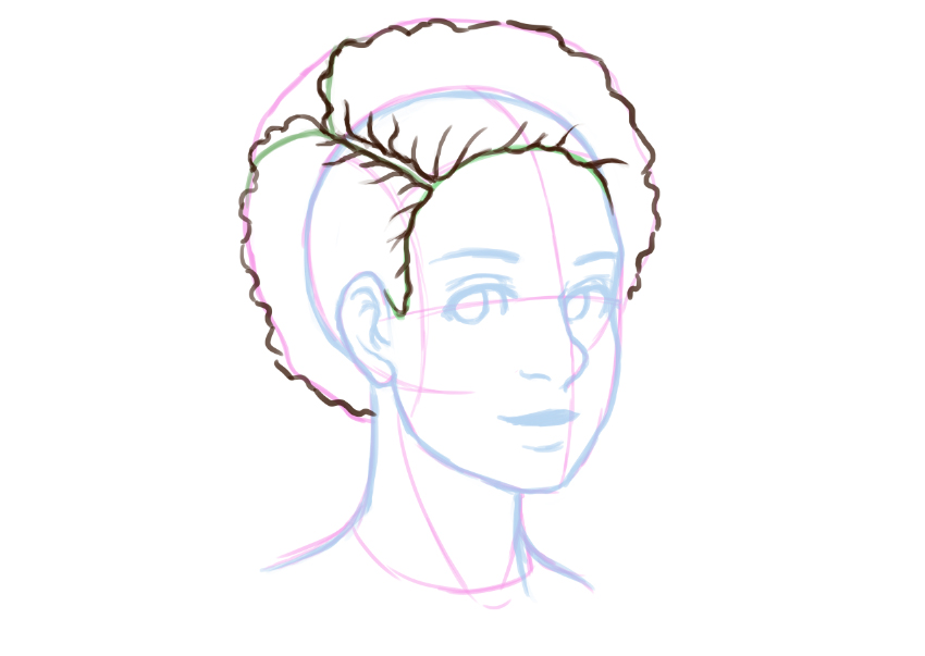 Continued Detail in the hair line